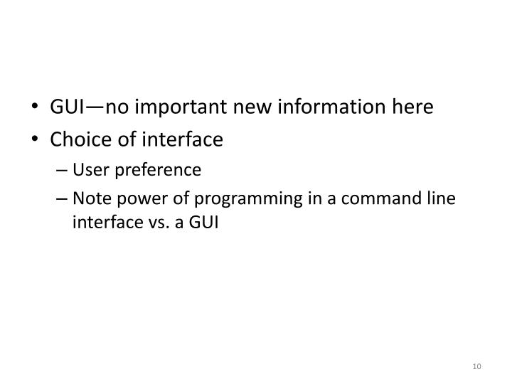 GUI—no important new information here