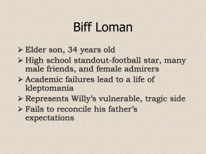 biff loman and football and kleptomania in death of a salesman by arthur miller Arthur miller's death of a salesman focuses on a man named willie loman's death because it is a turning he is the star of the football team, so biff is.