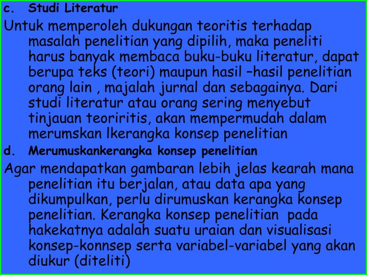 Studi Literatur