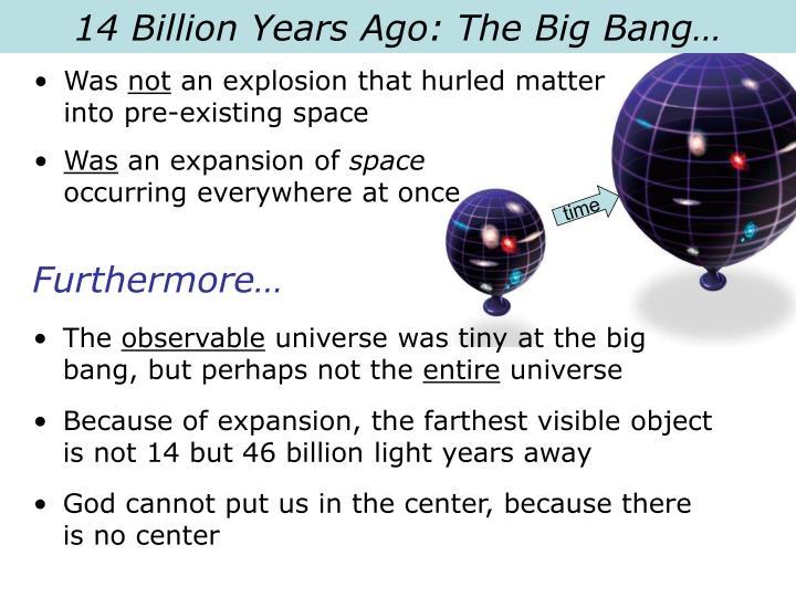 14 Billion Years Ago: The Big Bang…