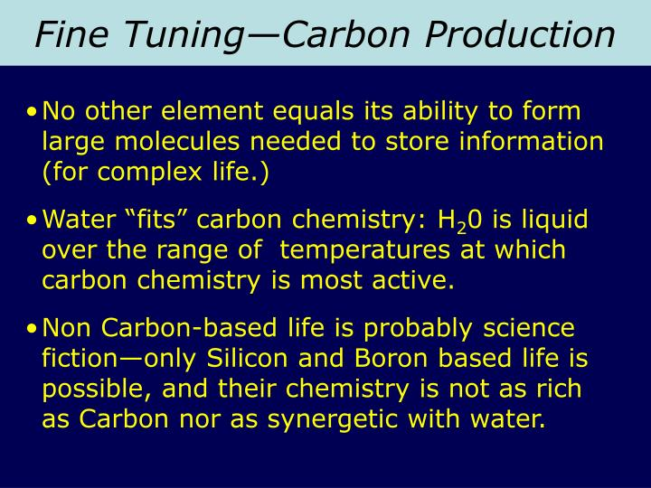 Fine Tuning—Carbon Production