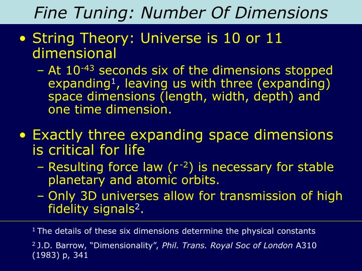 Fine Tuning: Number Of Dimensions
