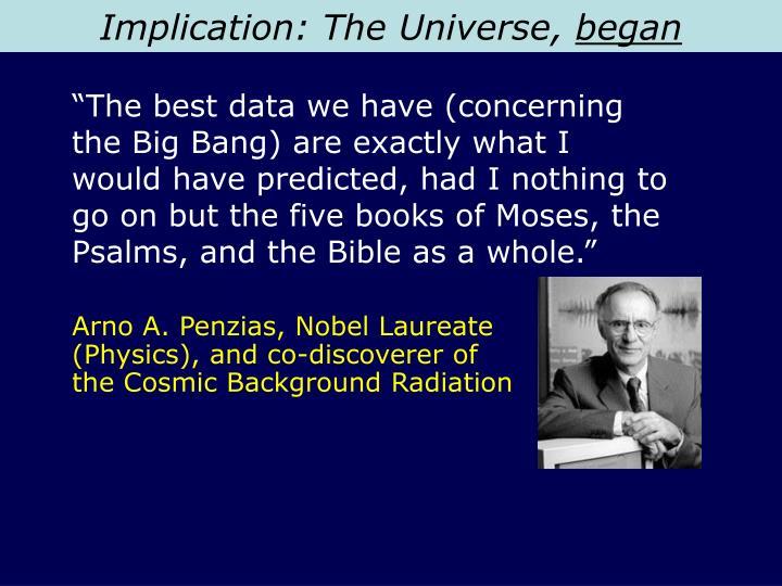 Implication: The Universe,