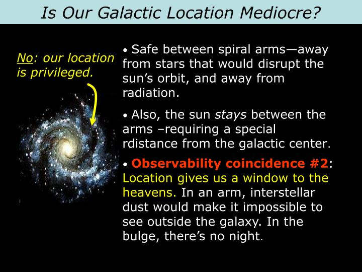 Is Our Galactic Location Mediocre?