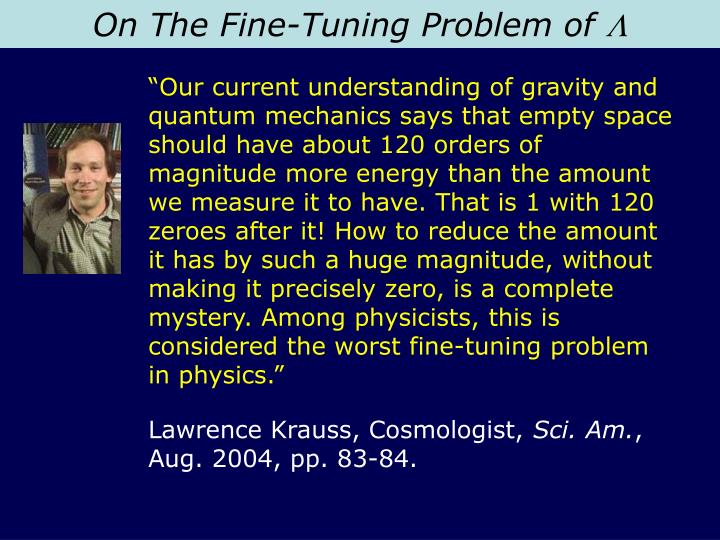On The Fine-Tuning Problem of