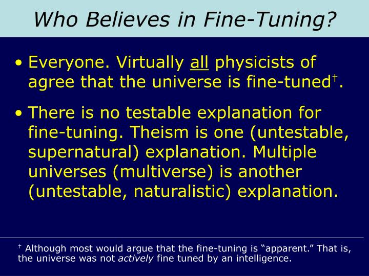 Who Believes in Fine-Tuning?
