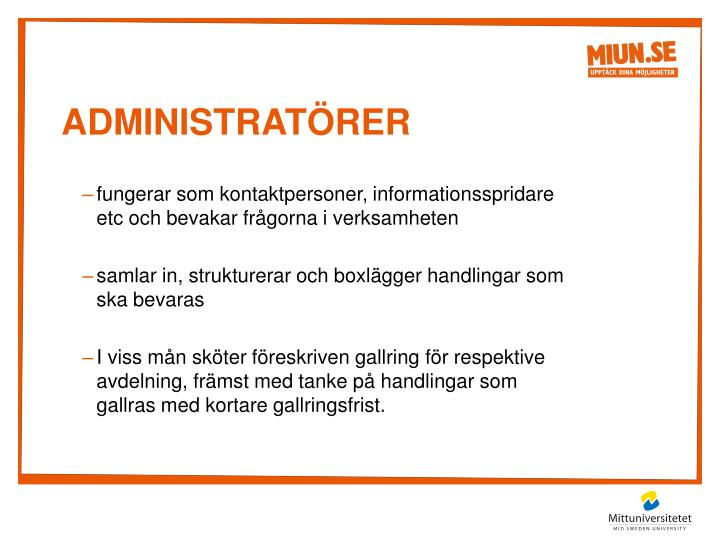 Administratörer