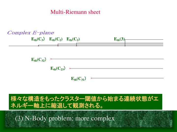 Multi-Riemann sheet