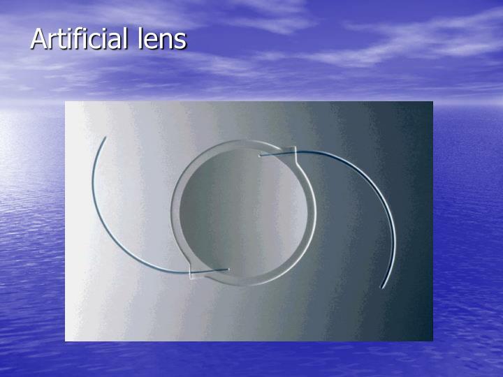 Artificial lens