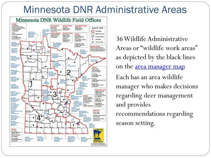 Minnesota DNR Administrative Areas