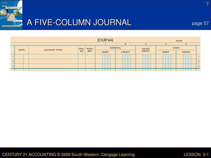 A FIVE-COLUMN JOURNAL