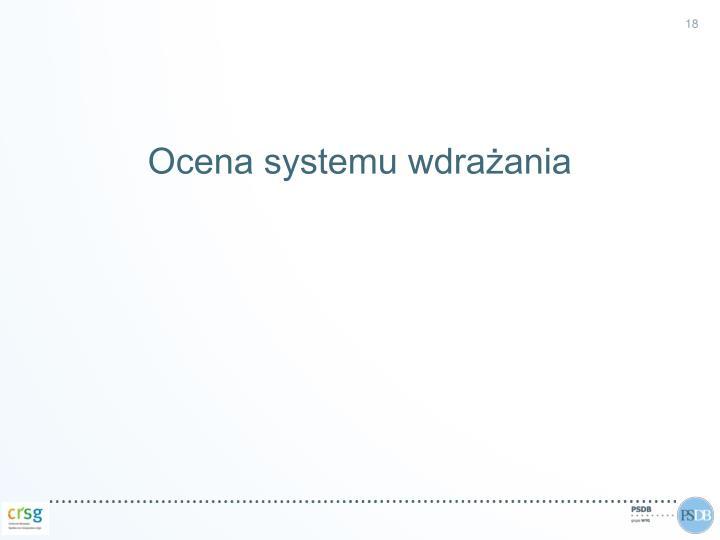 Ocena systemu wdrażania