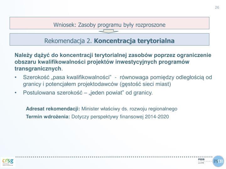 Wniosek: Zasoby programu były rozproszone