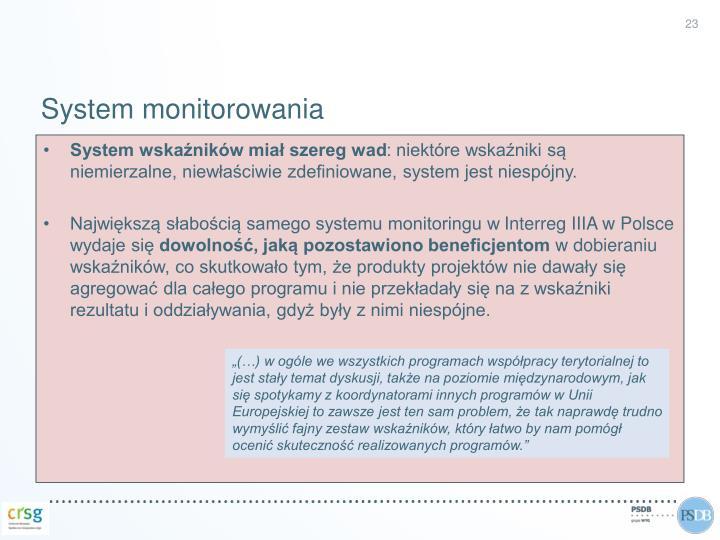 System monitorowania