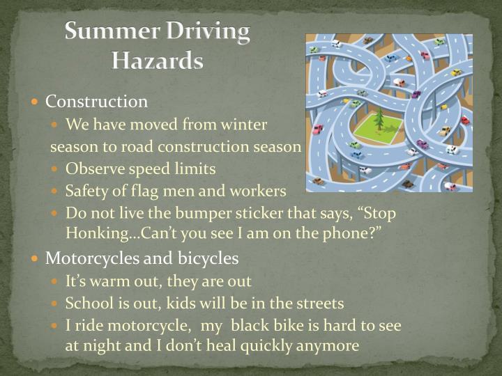 Summer Driving Hazards