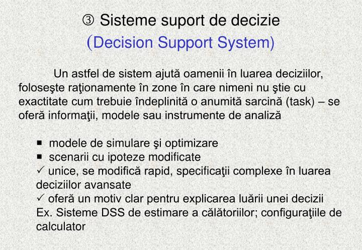 Sisteme suport de decizie