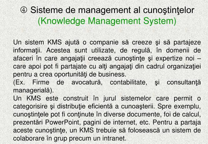 Sisteme de management al cunoştinţelor