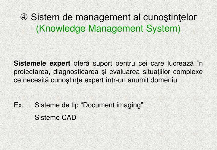 Sistem de management al cunoştinţelor