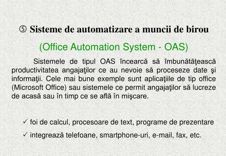 Sisteme de automatizare a muncii de birou