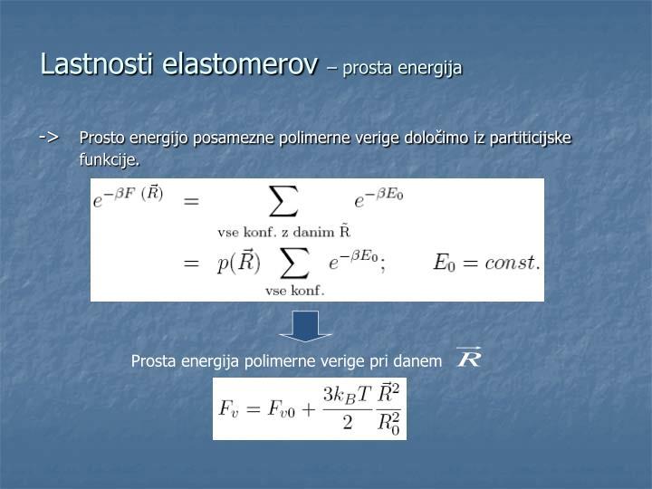 Lastnosti elastomerov