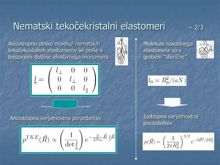 Nematski tekočekristalni elastomeri