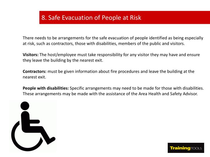 8. Safe Evacuation of People at Risk