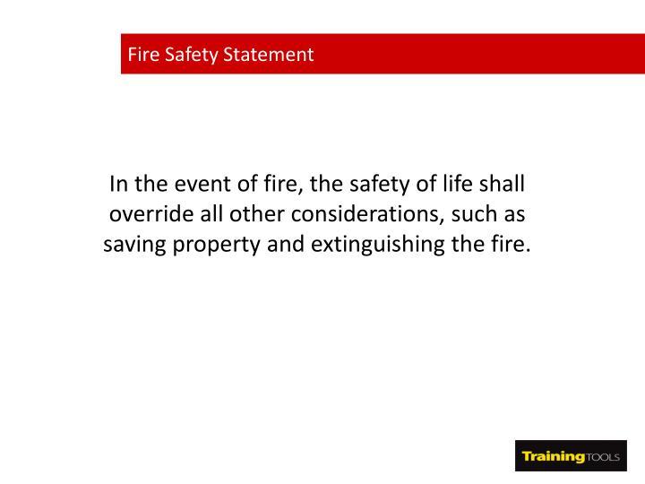 Fire Safety Statement