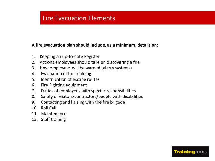 Fire Evacuation Elements
