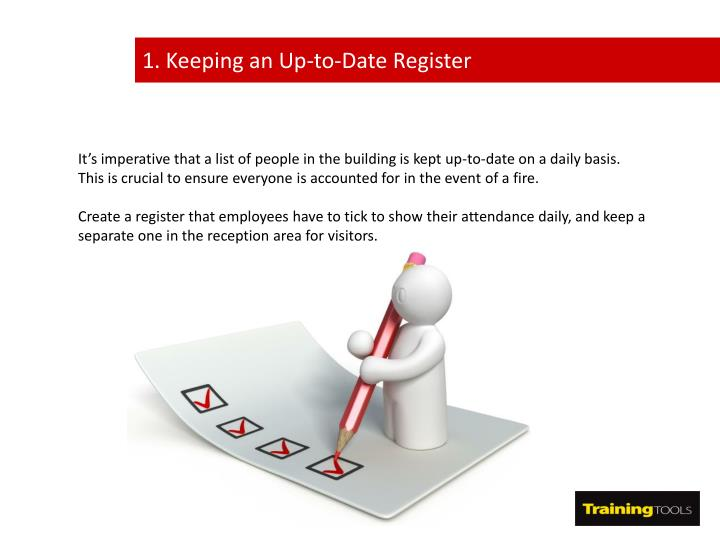 1. Keeping an Up-to-Date Register