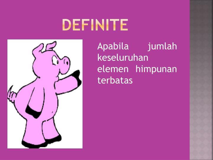 DEFINITE