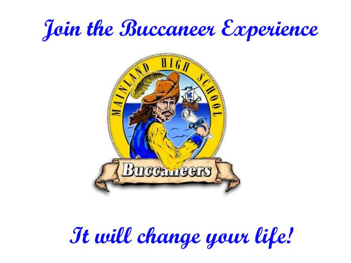 Join the Buccaneer Experience