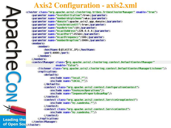 Axis2 Configuration - axis2.xml