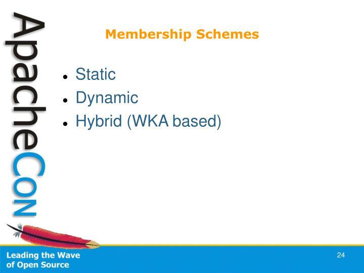 Membership Schemes