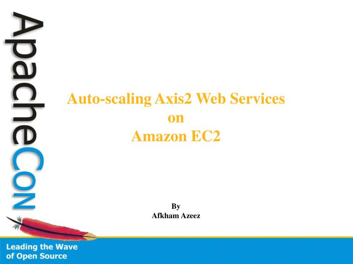 Auto-scaling Axis2 Web Services