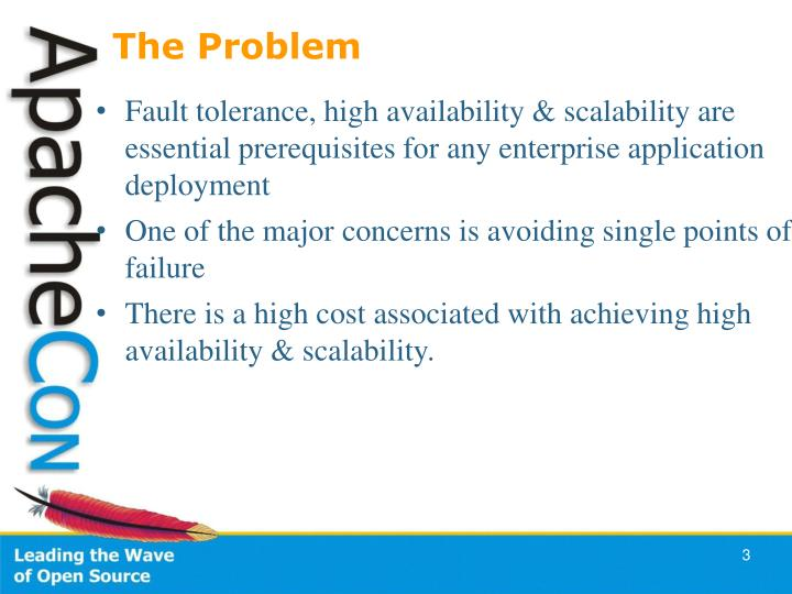 Fault tolerance, high availability & scalability are essential prerequisites for any enterprise application deployment