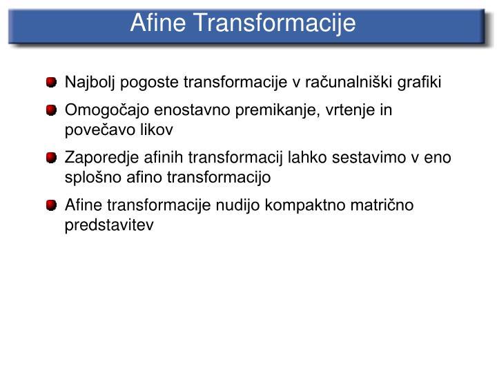Afine Transforma