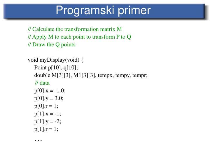 Programski primer