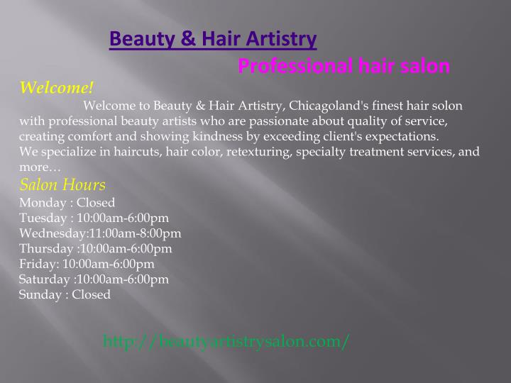Beauty & Hair Artistry