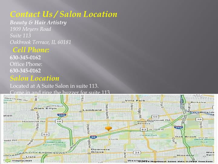 Contact Us / Salon Location