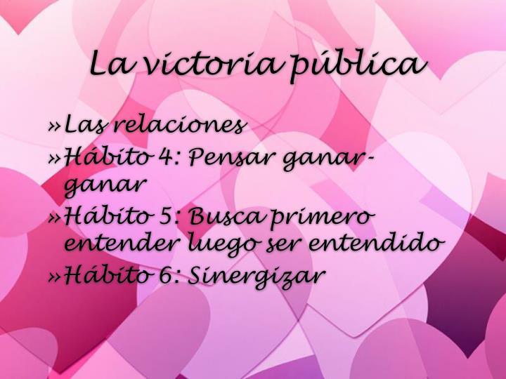 La victoria p