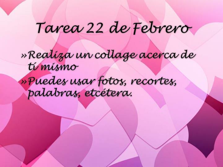 Tarea 22 de Febrero