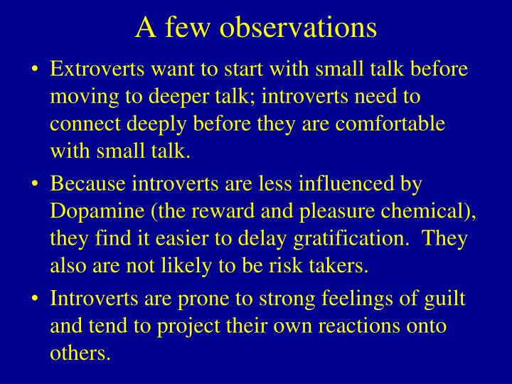 A few observations