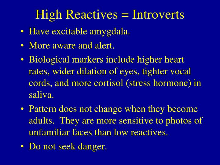 High Reactives = Introverts