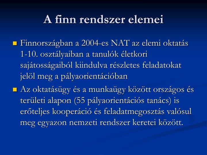 A finn rendszer elemei