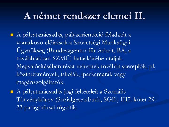 A német rendszer elemei II.