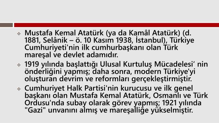 Mustafa Kemal Atatrk
