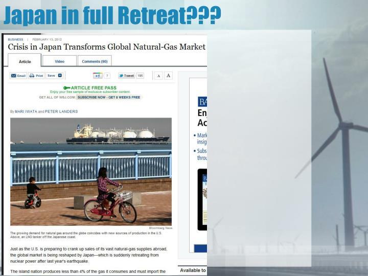 Japan in full Retreat???