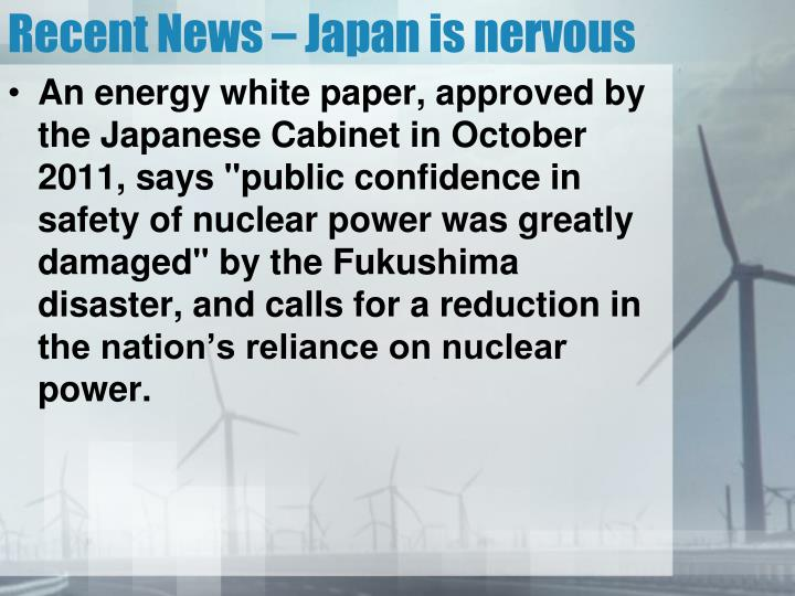 Recent News – Japan is nervous