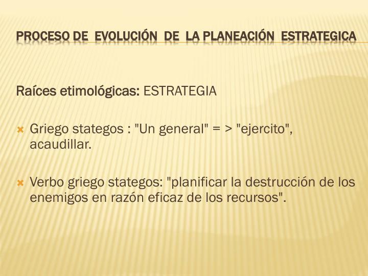 Raíces etimológicas: