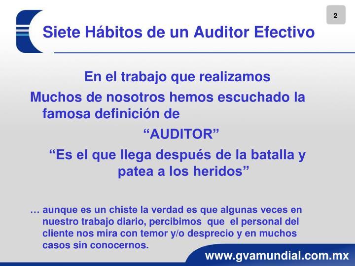 Siete Hábitos de un Auditor Efectivo